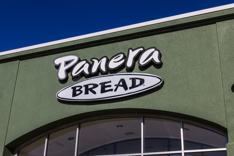 Lafayette - cerca do dezembro de 2016: Lugar do retalho do pão de Panera Panera é uma corrente dos restaurantes ocasionais rápido foto de stock