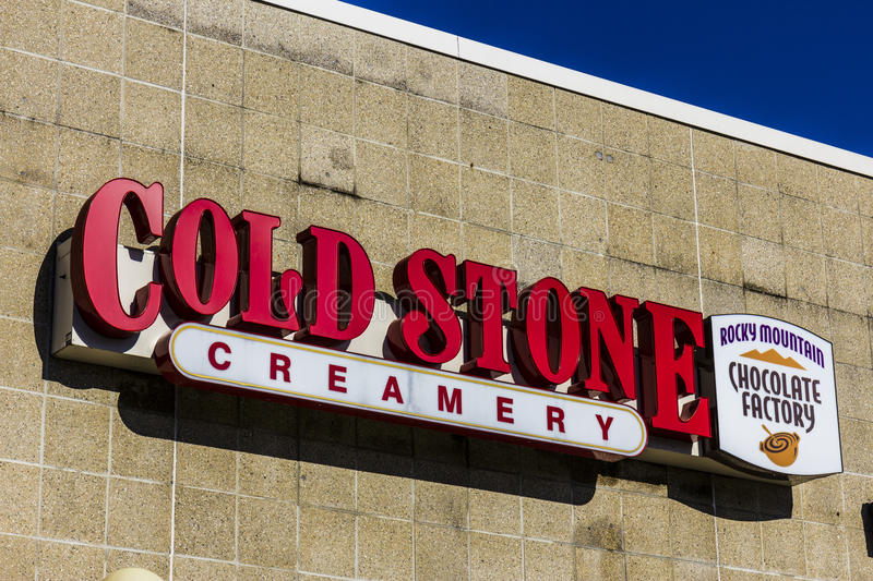 Lafayette - Circa December 2016: Cold Stone Creamery Ice Cream Parlor Location. Cold Stone is owned by Kahala Brands I stock image