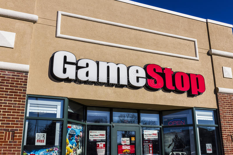 Lafayette - Circa December 2016: GameStop Strip Mall Location. GameStop is a Video Game and Electronics Retailer V. GameStop Strip Mall Location. GameStop is a royalty free stock photo