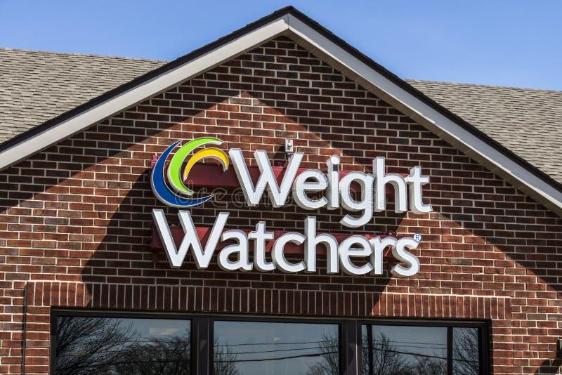 Lafayette - circa im April 2017: Gewichts-Beobachter, die Standort treffen Oprah Winfrey ist ein Gewichts-Beobachter-Sprecher III lizenzfreie stockfotos