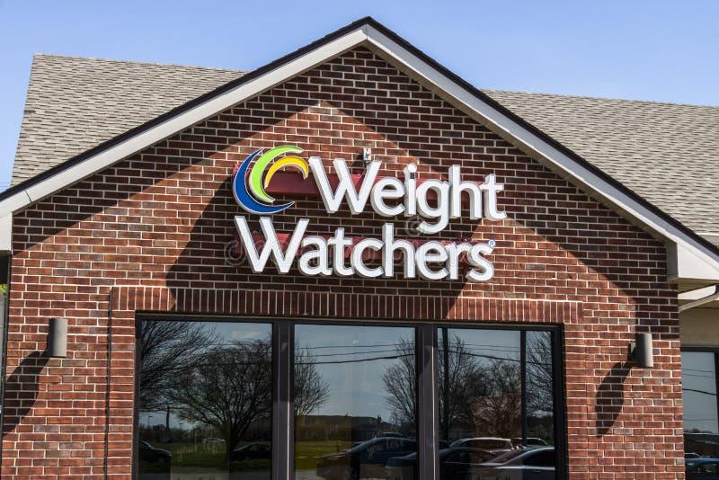 Lafayette - circa im April 2017: Gewichts-Beobachter, die Standort treffen Oprah Winfrey ist ein Gewichts-Beobachter Sprecher und lizenzfreie stockfotos