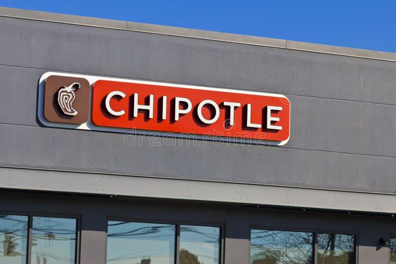 Lafayette, IN- circa im November 2015: Chipotle-mexikanisches Grill-Restaurant stockbilder