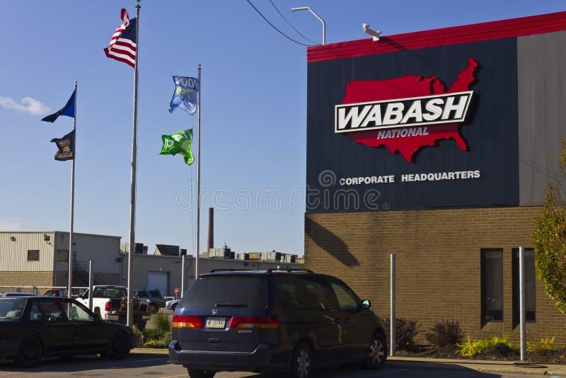 Lafayette, IN- circa im November 2015: Hauptsitze Wabash National Corporation lizenzfreie stockfotos