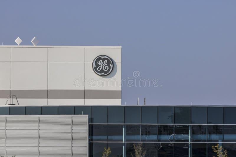 Lafayette - Circa September 2017: General Electric fabrik Förbereder den nya vd:n för GE ` s jobbsnitt i ett bud för att förminsk royaltyfria foton