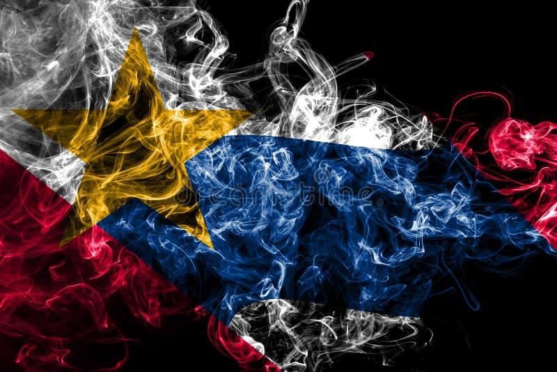 Lafayette city smoke flag, Indiana State, United States Of America royalty free illustration