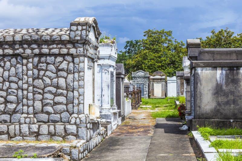 Lafayette cmentarz w Nowy Orlean z historycznymi Doniosłymi kamieniami zdjęcie stock