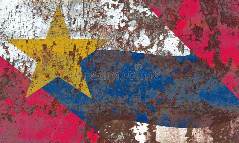Lafayette miasta dymu flaga, Indiana stan, Stany Zjednoczone Ameri fotografia royalty free