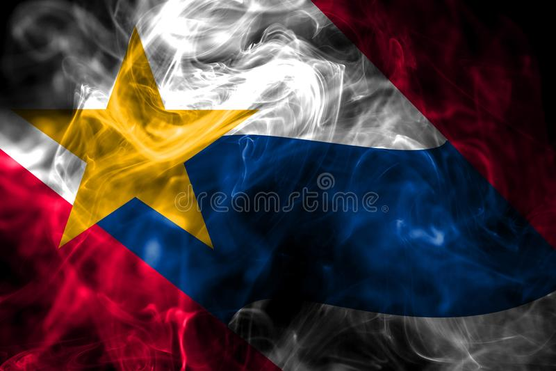 Lafayette miasta dymu flaga, Indiana stan, Stany Zjednoczone Ameri obrazy royalty free