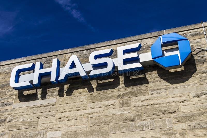 Lafayette - Około Luty 2017: Chase Bank handlu detalicznego lokacja VII zdjęcia royalty free