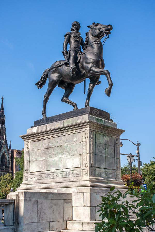Lafayette Pomnikowa statua w Baltimore Maryland obrazy stock