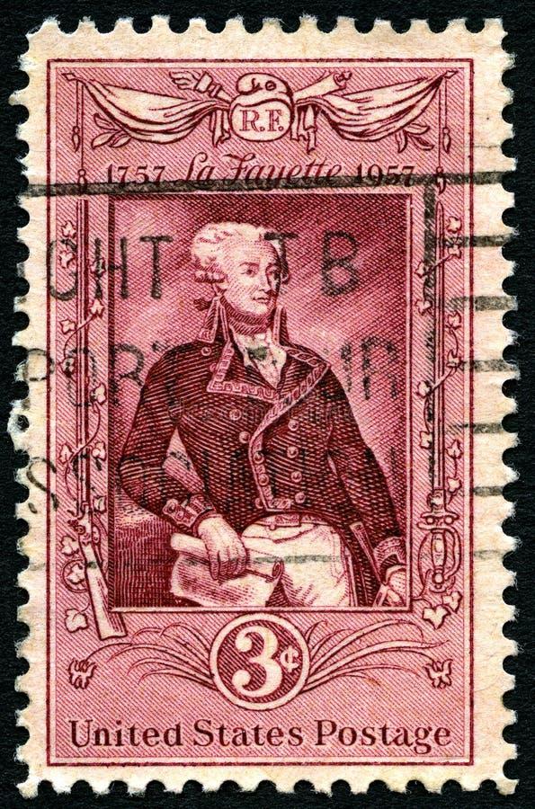 LaFayette USA portostämpel arkivbild