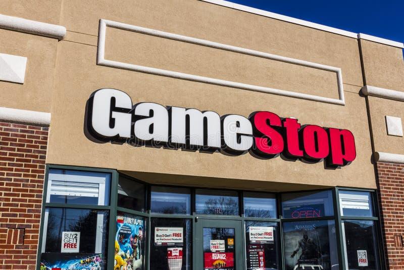Lafayette - vers en décembre 2016 : Emplacement de devis de GameStop GameStop est un détaillant de jeu vidéo et d'électronique V photo libre de droits