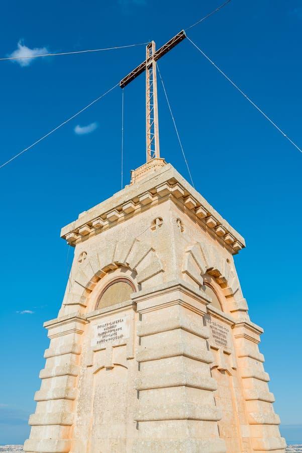Laferla kors i gränserna av Siggiewi, Malta royaltyfri foto