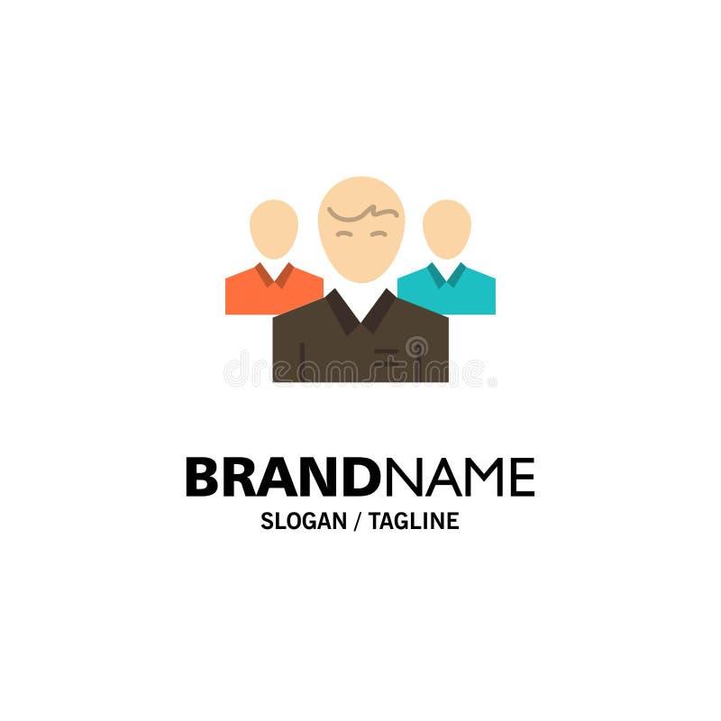 Lag affär, Ceo, ledare, ledare, ledarskap, personaffär Logo Template plan f?rg vektor illustrationer