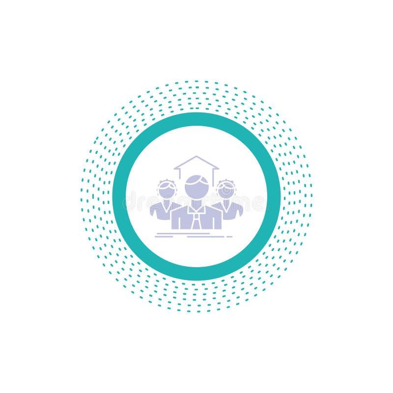 Lag affär, teamwork, grupp som möter skårasymbolen Vektor isolerad illustration royaltyfri illustrationer