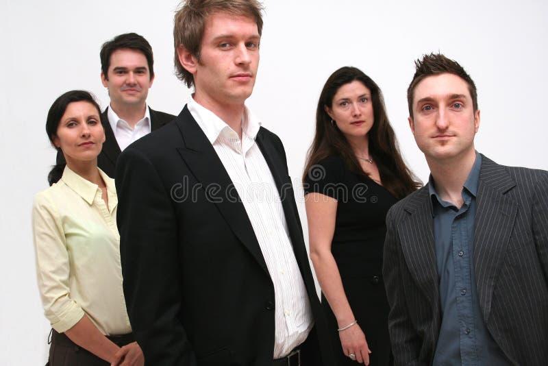 lag för 5 affärsfolk fotografering för bildbyråer