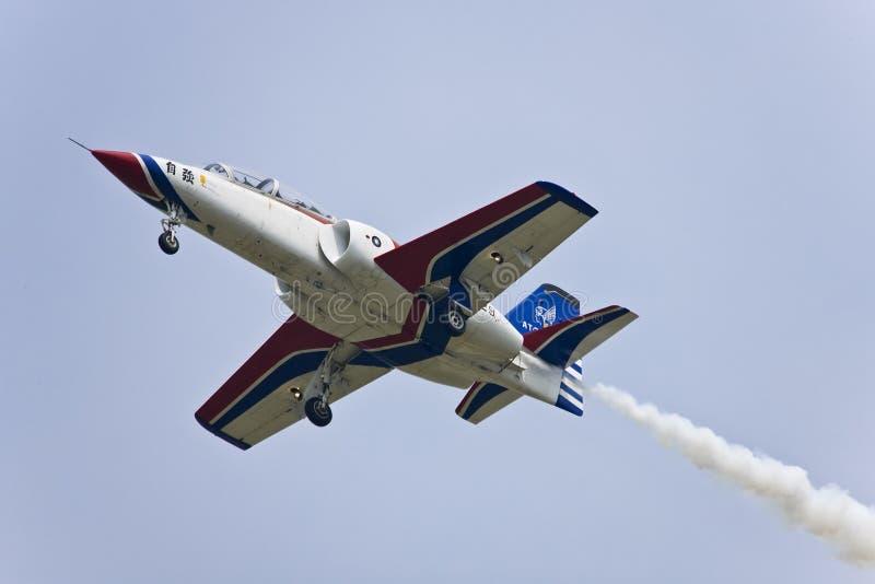 lag för aerobaticsairshowskärm arkivbild