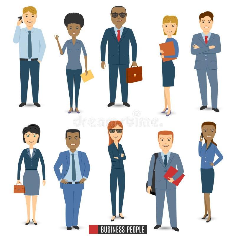 lag för affärsfolk stock illustrationer