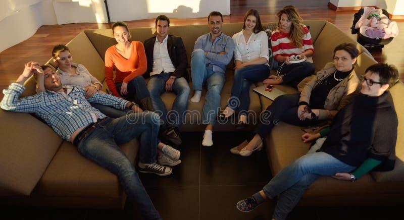 Lag för affärsfolk på möte royaltyfria foton