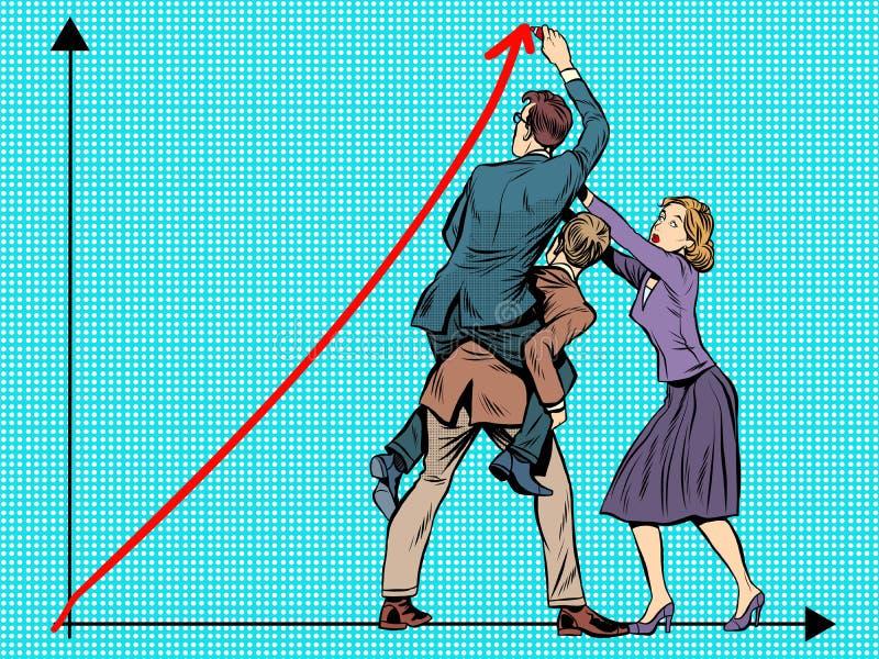 lag för affärsframgång vektor illustrationer
