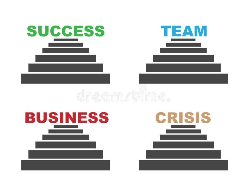 lag för affärskrisframgång stock illustrationer