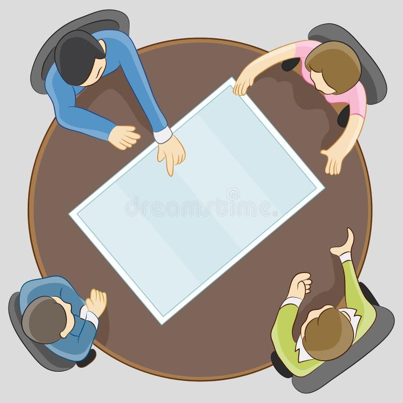 lag för affärsmöte stock illustrationer