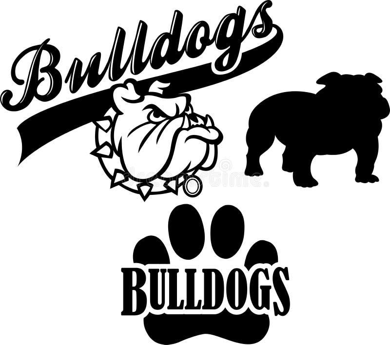 lag för bulldoggeps-maskot royaltyfri illustrationer