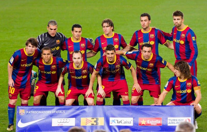 Lag för FC Barcelona royaltyfria foton