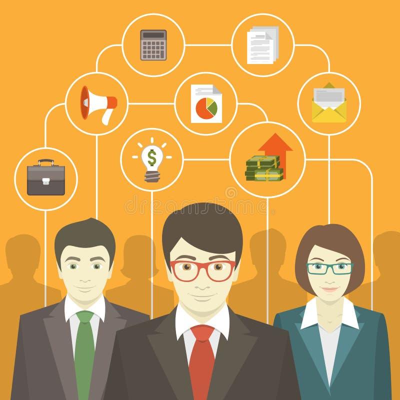 Lag för konsultera för affär stock illustrationer