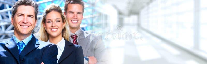 lag för megafon för man för affärskaffelady arkivbild
