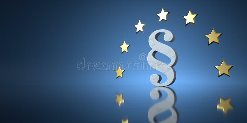 Lag f?r europeisk union royaltyfri illustrationer