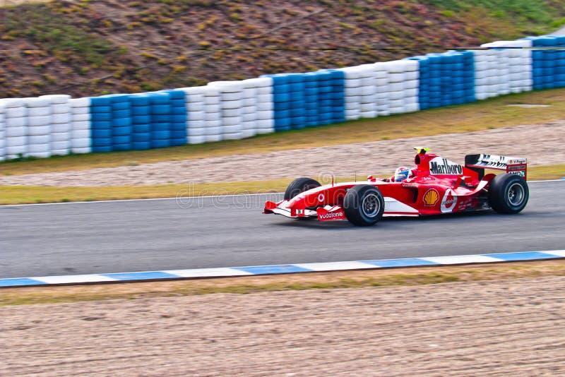 Lag Ferrari F1, Marc gen, 2004 royaltyfria bilder