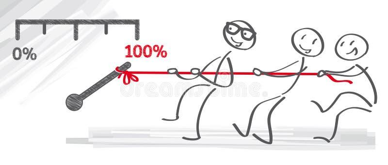 Lag och motivation stock illustrationer