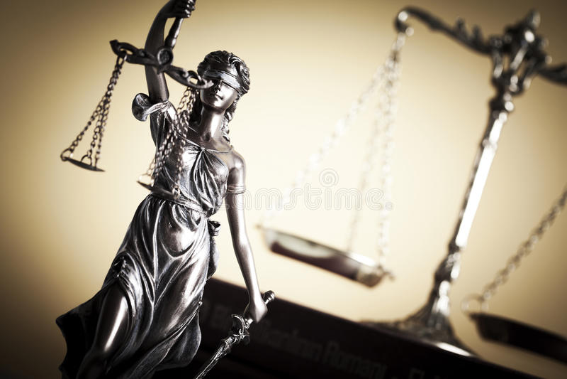 Lag- och rättvisabegrepp fotografering för bildbyråer