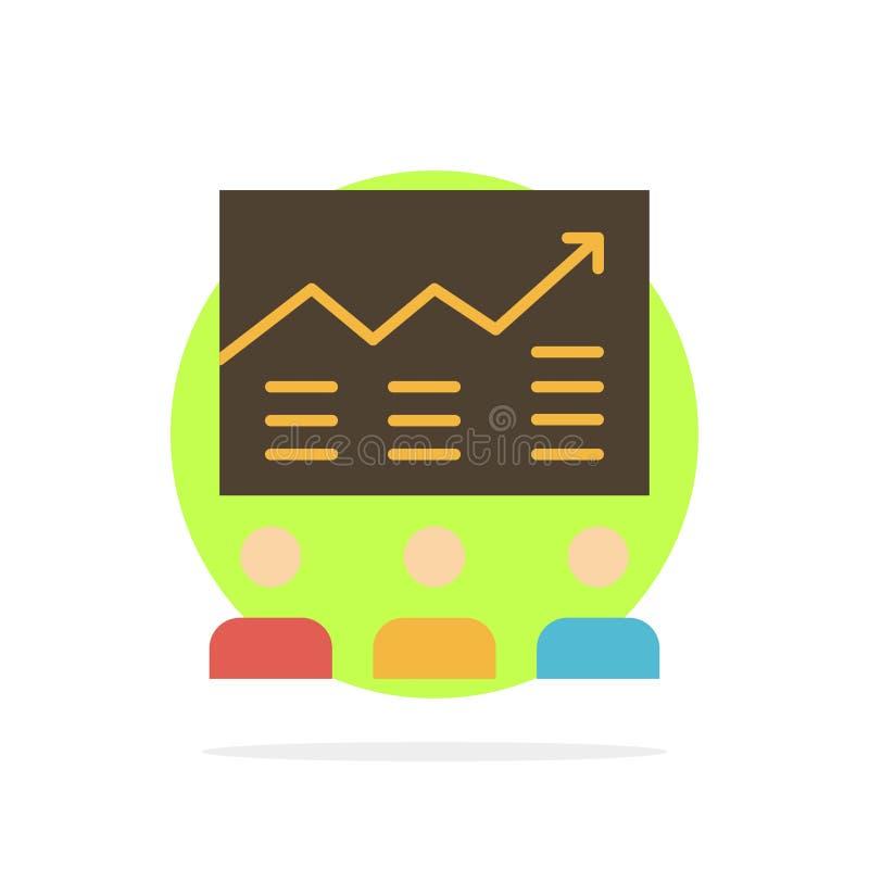 Lag pil, affär, diagram, försök, graf, för abstrakt symbol för färg cirkelbakgrund för framgång plan royaltyfri illustrationer