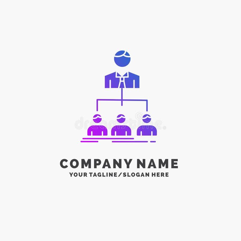 lag teamwork, organisation, grupp, företagslilaaffär Logo Template St?lle f?r Tagline royaltyfri illustrationer