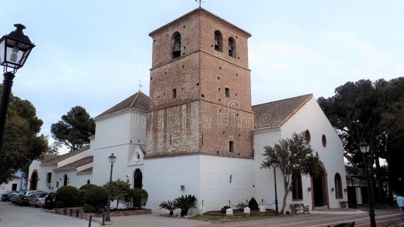 ¡Laga-Andalucía-España-Europa del pueblo-MÃ de Mijas de la iglesia imagen de archivo