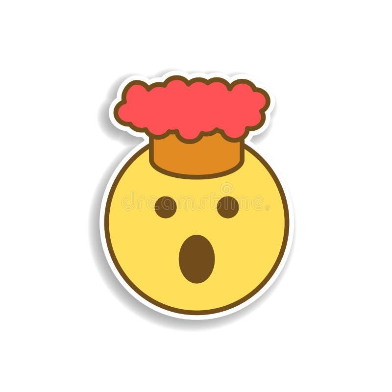 Laga mat den kulöra emojiklistermärkesymbolen Beståndsdel av emojien för mobil begrepps- och rengöringsdukappsillustration royaltyfri illustrationer