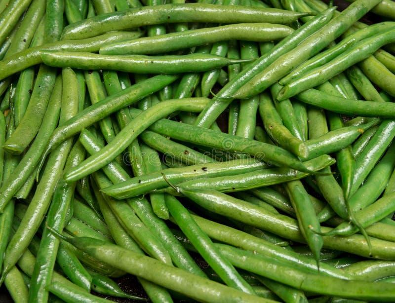 Laga mat för haricot vert royaltyfria bilder