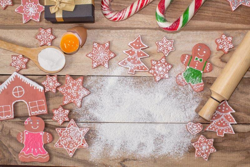 Laga mat för jul E med fritt utrymme för text royaltyfri foto