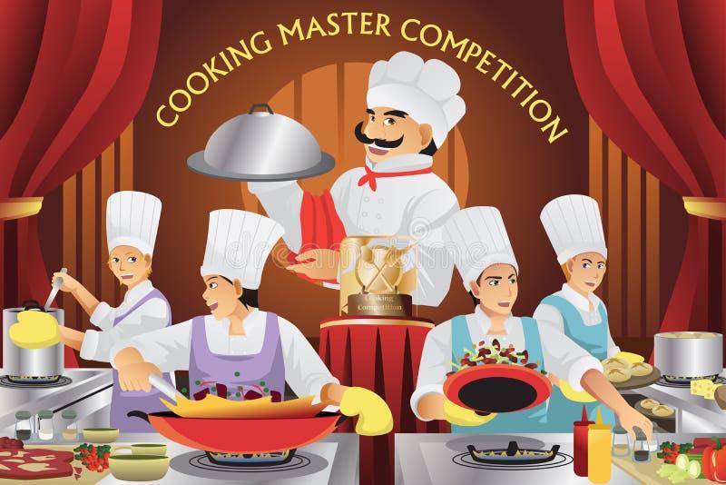 Laga mat ledar- konkurrens stock illustrationer