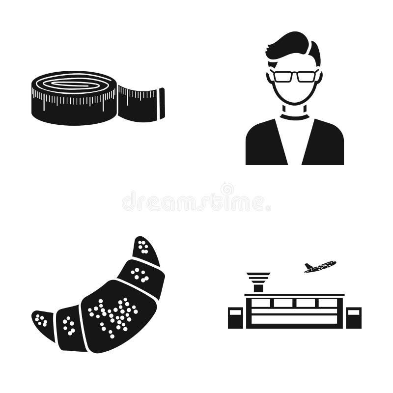laga mat och eller rengöringsduksymbol i svart stil yrke trans.symboler i uppsättningsamling royaltyfri illustrationer