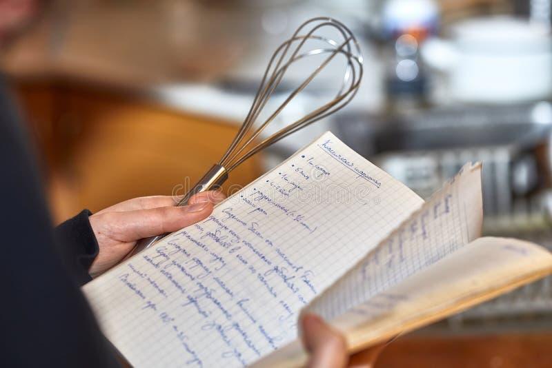 Laga mat receptanmärkningar royaltyfri fotografi
