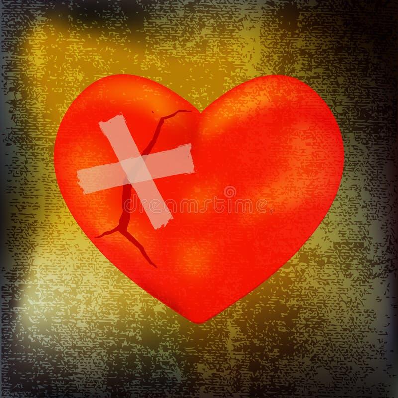 lagad hjärta stock illustrationer