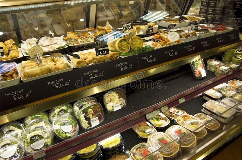 Lagad mat foodssalladsmörgås arkivbild