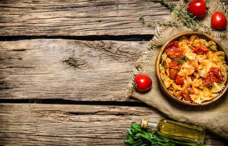 lagad mat pasta royaltyfri fotografi