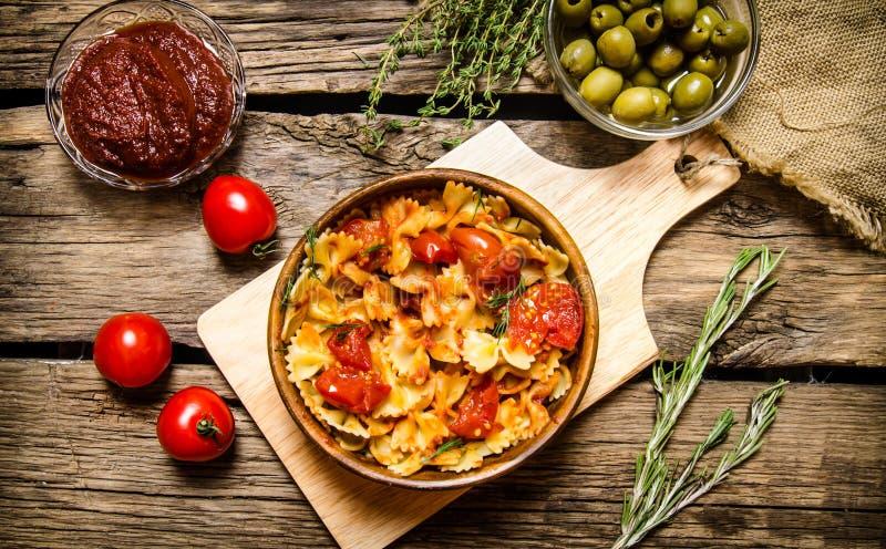lagad mat pasta arkivbilder