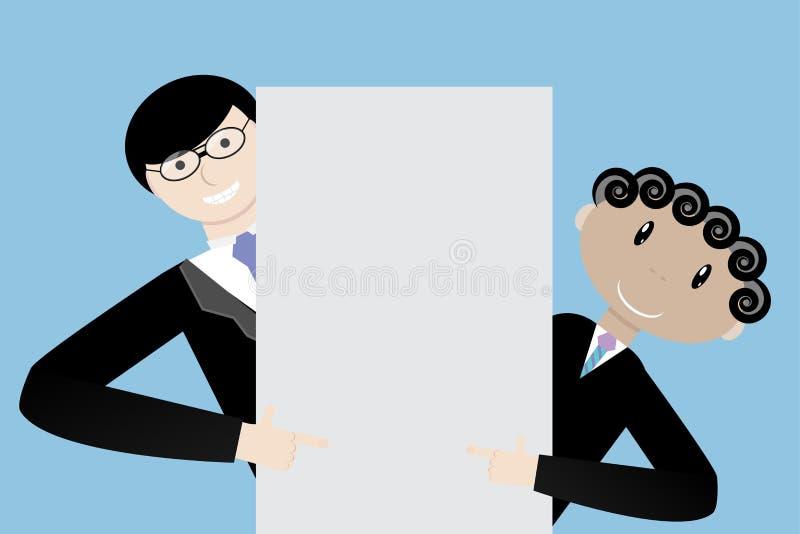 Lagaffärsmanpresentation royaltyfri illustrationer