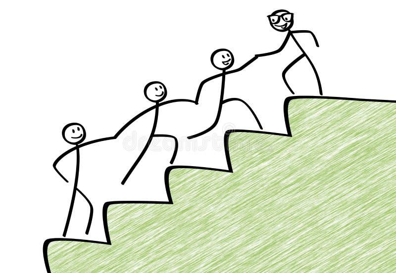 Lagarbete för framgång stock illustrationer