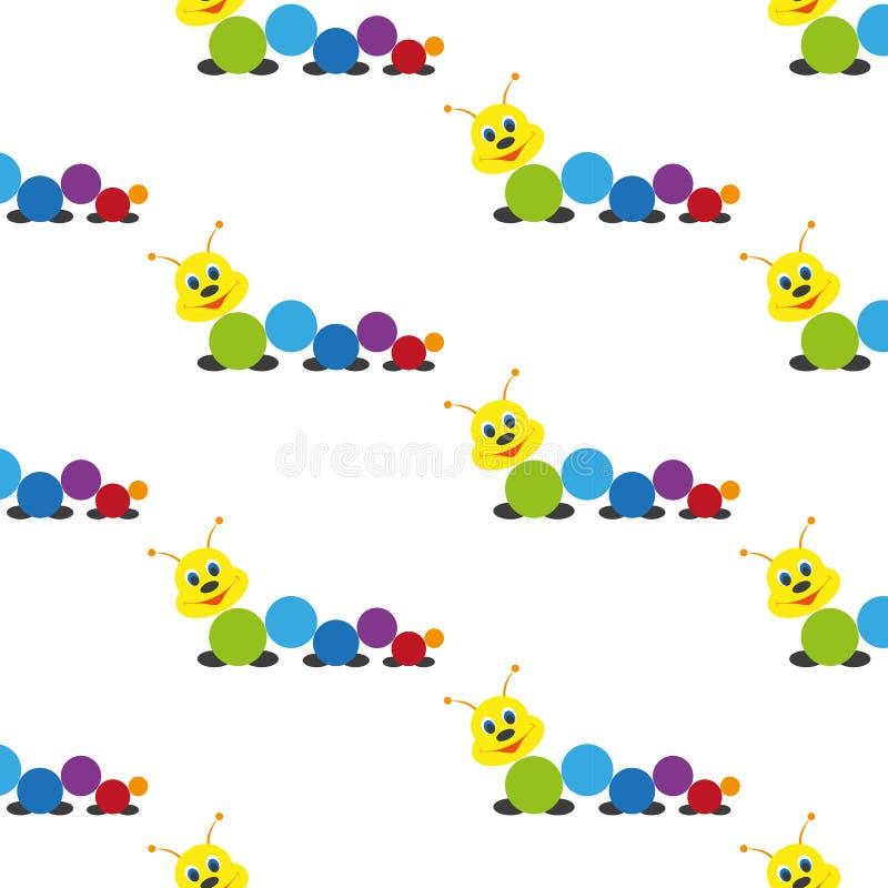 lagarta Brinquedo do bebê Teste padrão ilustração stock